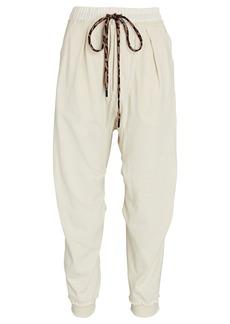 R13 Harem Cotton Terry Sweatpants