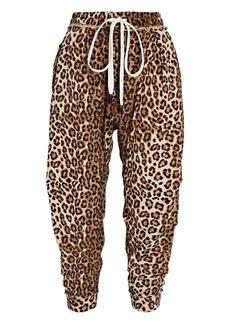 R13 Harem Leopard Cotton Terry Sweatpants