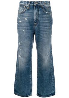 R13 high rise bootcut jeans