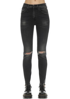 R13 High Rise Skinny Cotton Denim Jeans