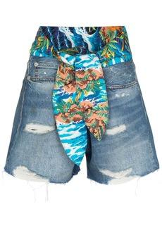 R13 Jasper tie-waist denim shorts
