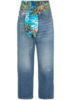 R13 jasper tie waist wide-leg jeans