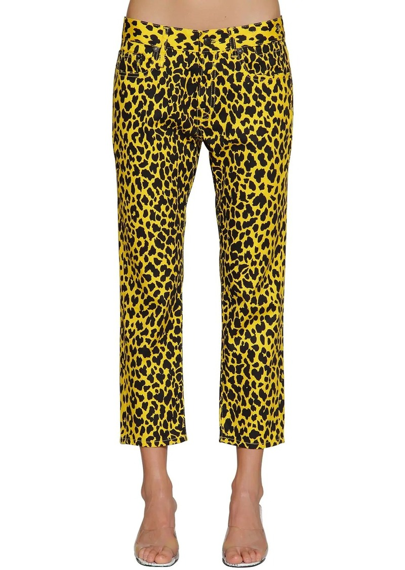 R13 Joey Leopard Printed Cotton Pants