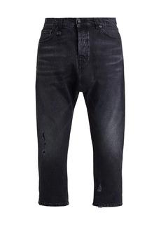 R13 Jonah Drop Crop Straight-Leg Jeans