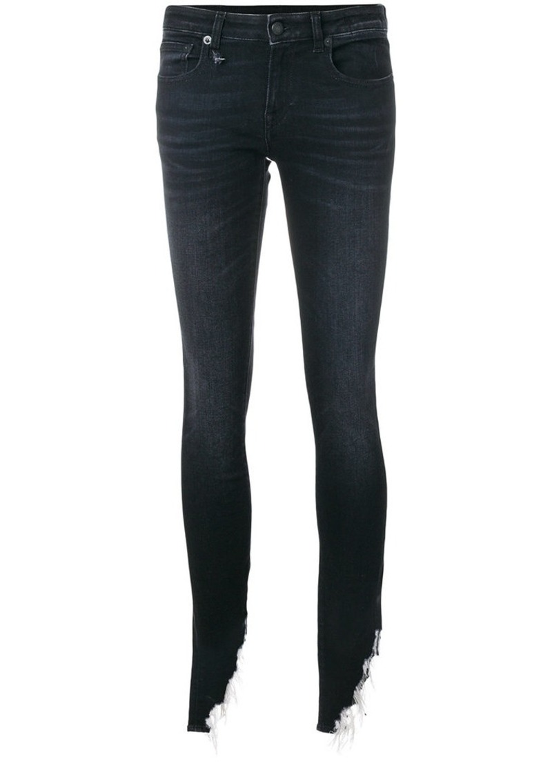 R13 Kate shredded hem skinny jeans