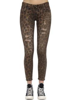 R13 Kate Skinny Leopard Print Denim Jeans