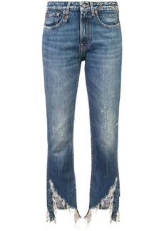 R13 Kelly frayed hem jeans