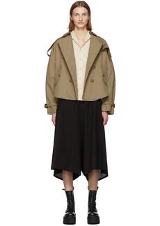 R13 Khaki Tuck-In Trench Coat