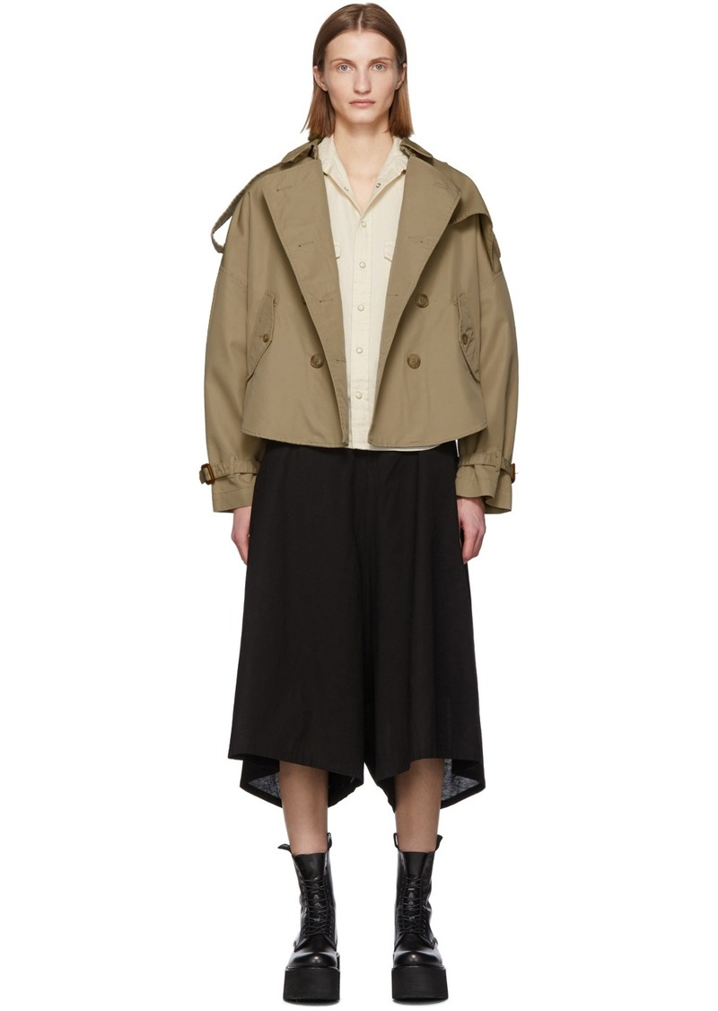 R13 Khaki Tuck-In Trench Coat