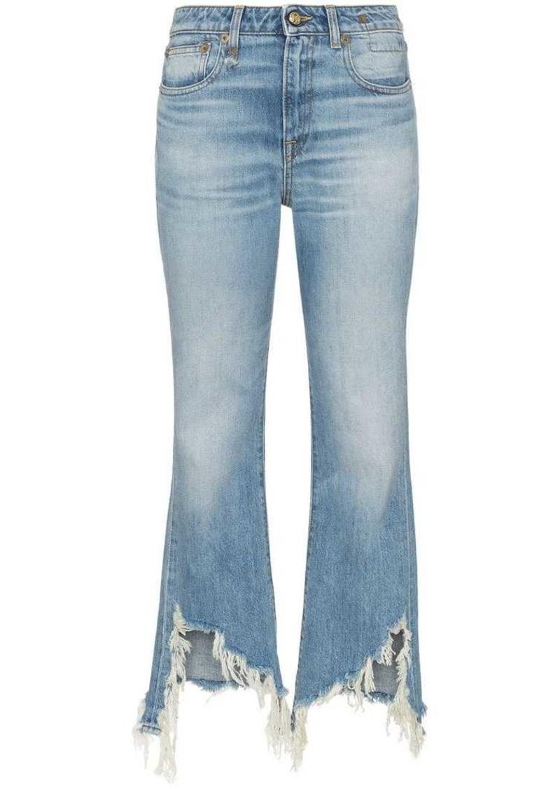 f1f0f136bb8 SALE! R13 kick fit distressed hem jeans