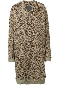 R13 leopard print coat