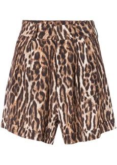 R13 leopard print shorts