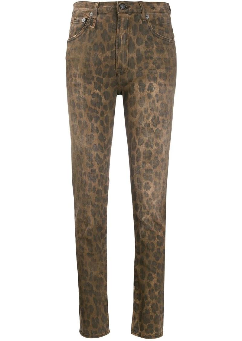 R13 leopard print trousers