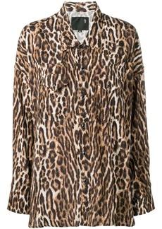 R13 leopard print west shirt
