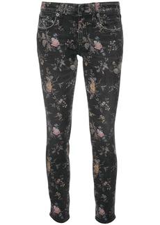 R13 light floral print jeans