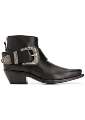 R13 low heel western-style boots