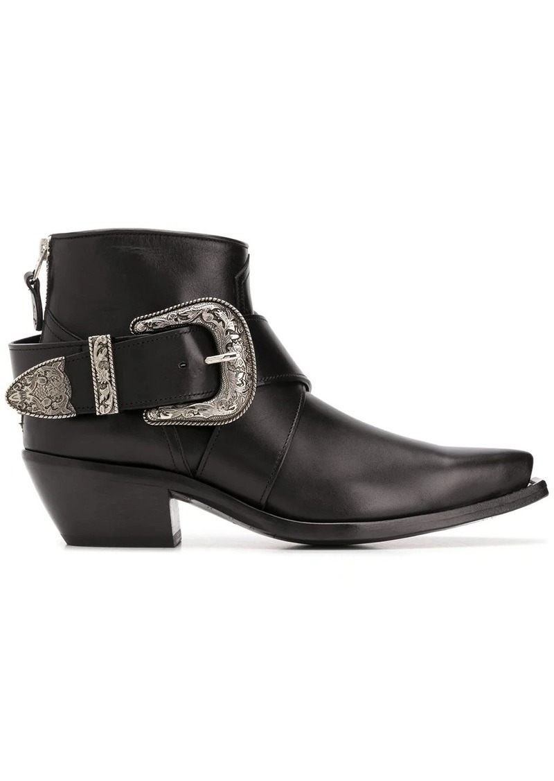 low heel western-style boots