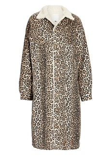 R13 Lyle Leopard Printed Trucker Coat
