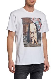 R13 Men's Notorious B.I.G. Biggie Graffiti Graphic T-Shirt