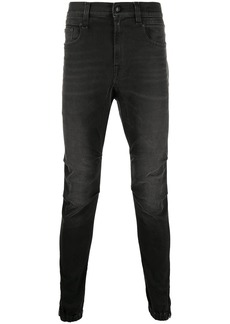 R13 mid-rise slim-fit jeans