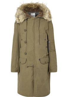 R13 N-3b Oversized Faux Fur-trimmed Cotton Parka