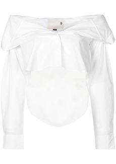 R13 off-shoulder shirt