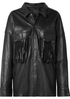 R13 Oversized Fringed Leather Jacket