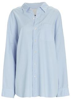R13 Oversized Striped Cotton Button-Down Shirt