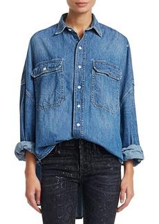 R13 Patti Oversized Denim Shirt