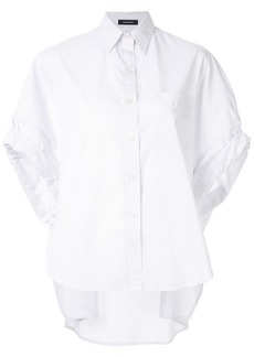 R13 pinstripes rolled-sleeve shirt