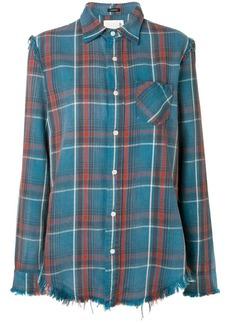 R13 plaid frayed shirt