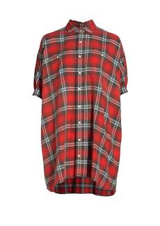 R13 Plaid Oversized Shirtdress