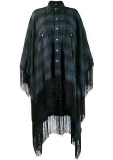 R13 plaid shirt poncho
