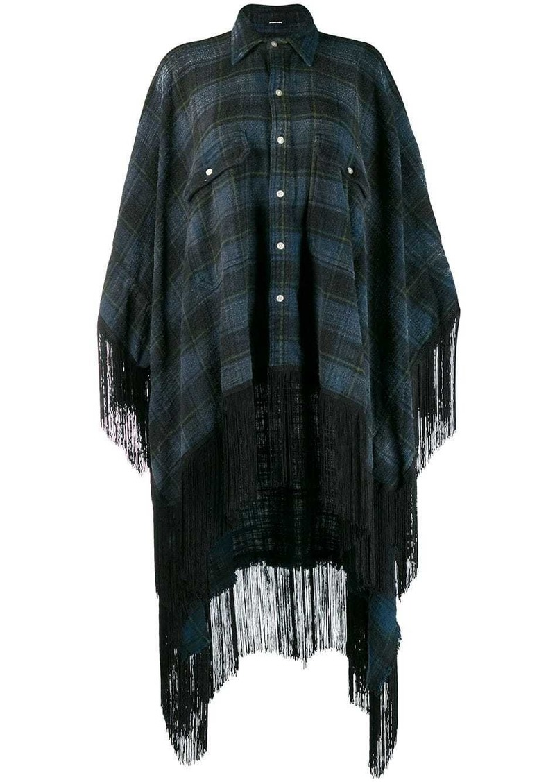 R13 plaid shirt poncho