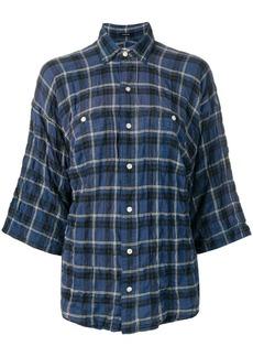 R13 plaid short sleeved shirt