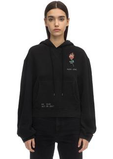 R13 Printed Cotton Sweatshirt Hoodie