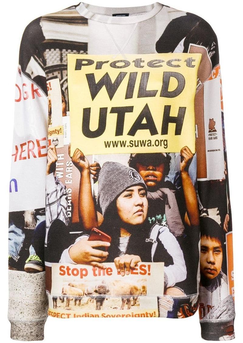 R13 Protect Utah printed sweatshirt