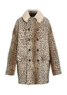 R13 - Women's Hunting Oversized Double-Breasted Faux-Shearling Coat - Animal - Moda Operandi