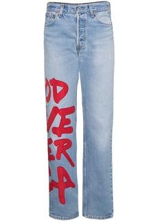 R13 Applique Boyfriend Jeans - Blue