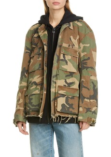 R13 Camo Abu Jacket with Long Hoodie (Nordstrom Exclusive)