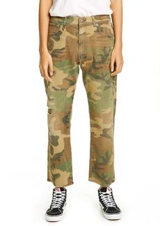 R13 Camo Print Boyfriend Jeans