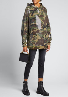 R13 Camo Sequined Hoodie