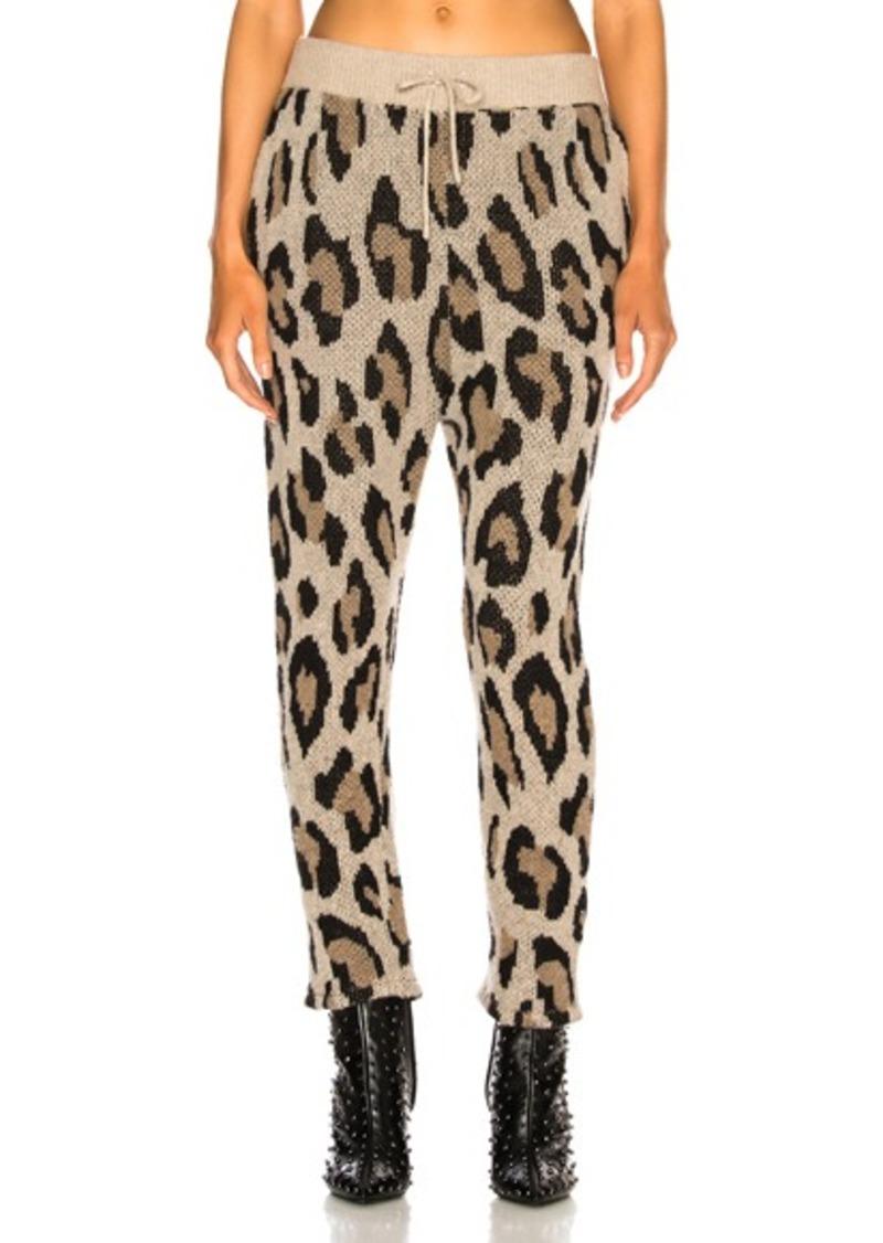 R13 Cashmere Leopard Pant