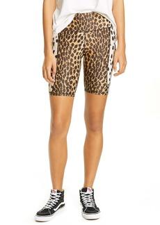 R13 Cheetah Print Bike Shorts