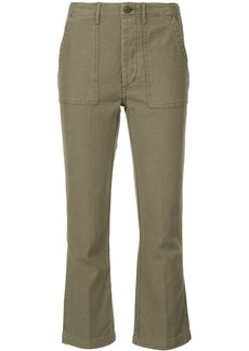 R13 cropped cargo trousers - Green