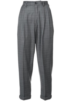 R13 cropped plaid trousers - Grey
