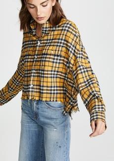 R13 Cropped Work Shirt