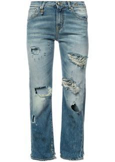 R13 distressed boyfriend jeans - Blue