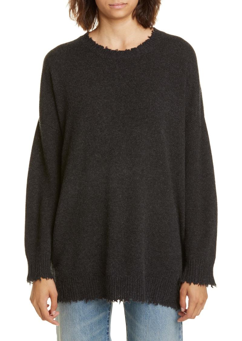 R13 Distressed Cashmere Boyfriend Sweater