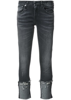 R13 distressed detail jeans